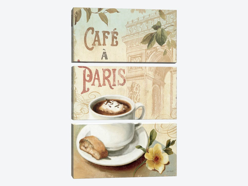 Cafe in Europe I by Lisa Audit 3-piece Canvas Wall Art