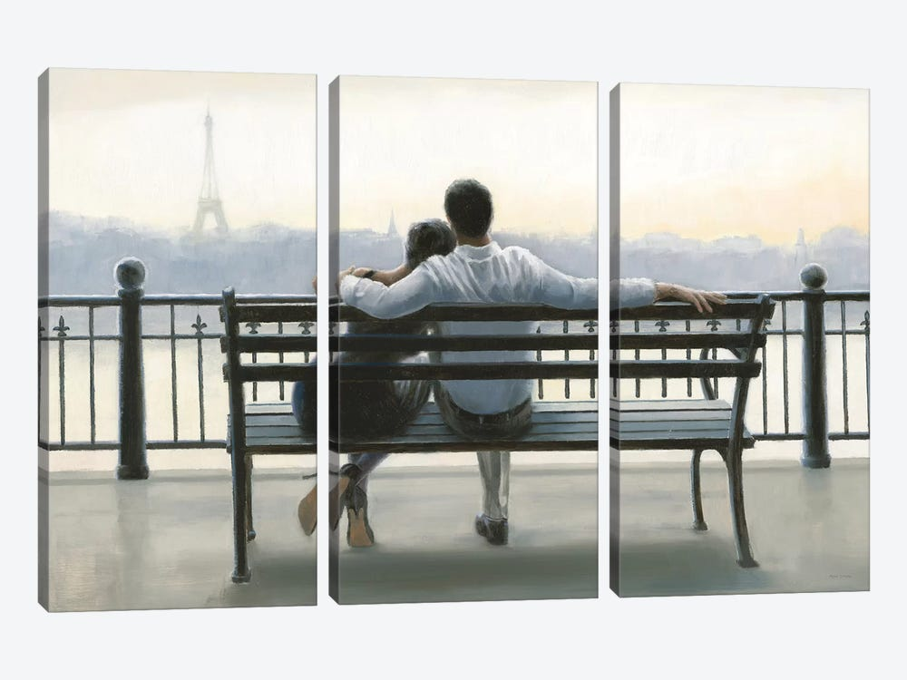 Parisian Afternoon by Myles Sullivan 3-piece Canvas Art Print