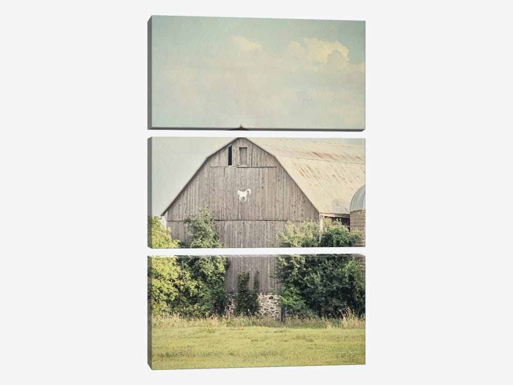 Late Summer Barn II by Elizabeth Urquhart 3-piece Canvas Wall Art