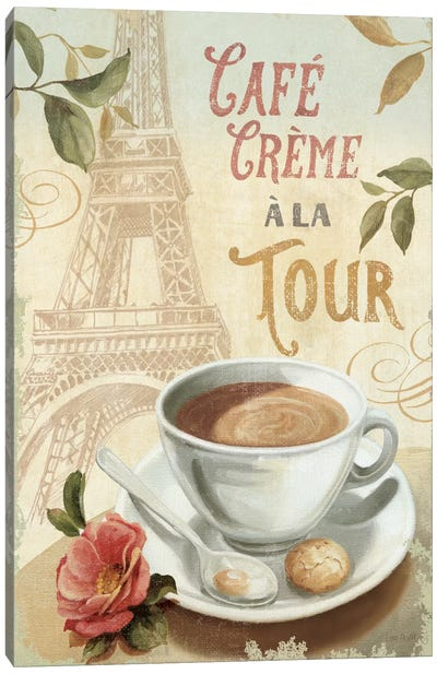 Cafe in Europe II Canvas Art Print