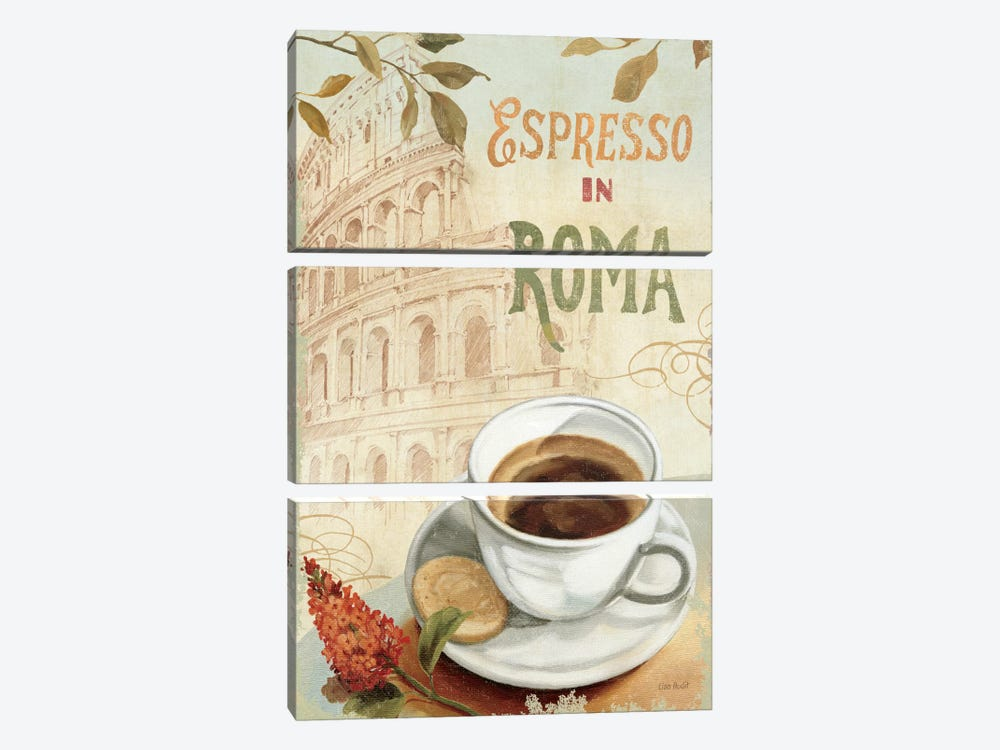 Cafe in Europe III by Lisa Audit 3-piece Canvas Wall Art