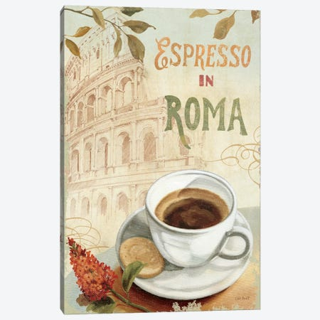 Cafe in Europe III Canvas Print #WAC664} by Lisa Audit Canvas Art Print