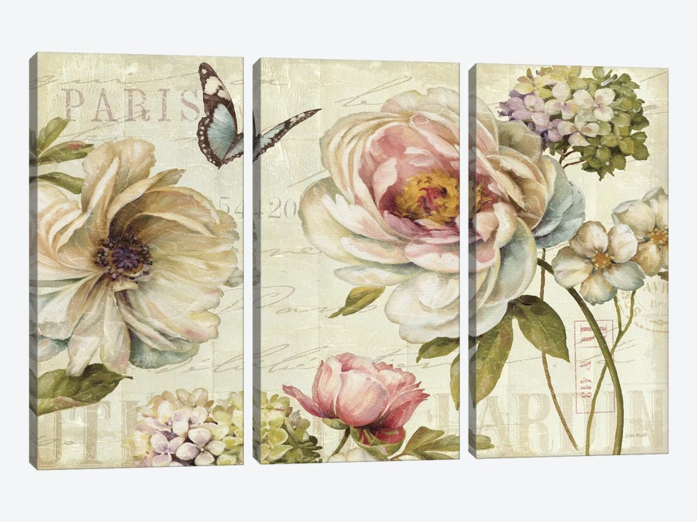 Marche de Fleurs IV by Lisa Audit 3-piece Canvas Artwork