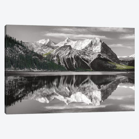 Kananaskis Lake Reflection Canvas Print #WAC6687} by Alan Majchrowicz Canvas Print