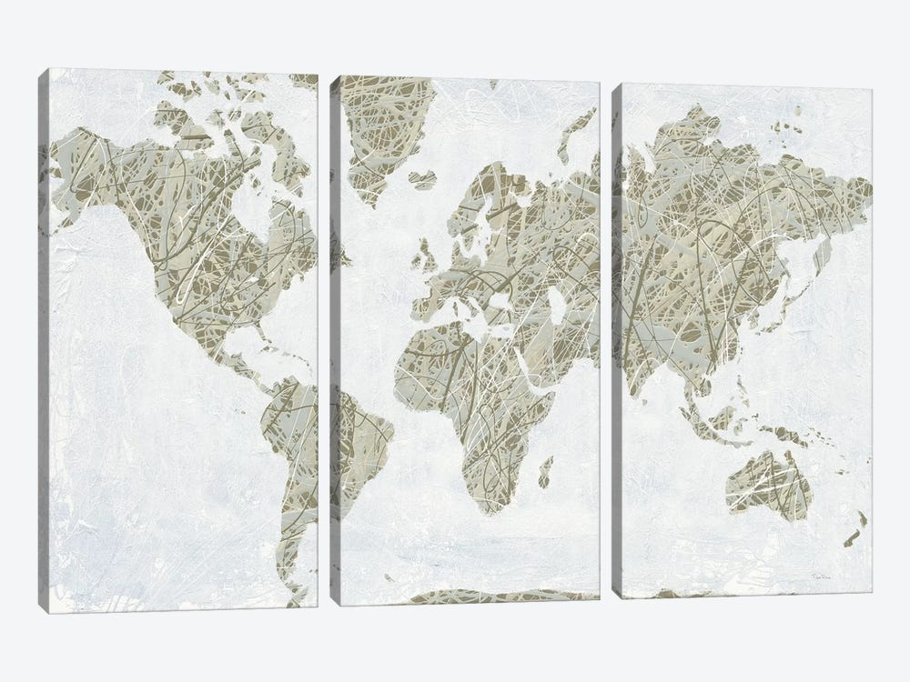 A Spinning World by Piper Rhue 3-piece Canvas Art Print