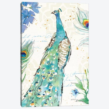 Peacock Garden I Canvas Print #WAC6712} by Anne Tavoletti Canvas Art