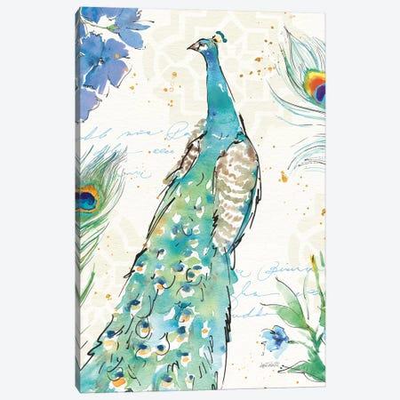 Peacock Garden I Canvas Print #WAC6712} by Anne Tavoletti Canvas Art
