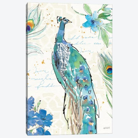 Peacock Garden II 3-Piece Canvas #WAC6713} by Anne Tavoletti Canvas Art