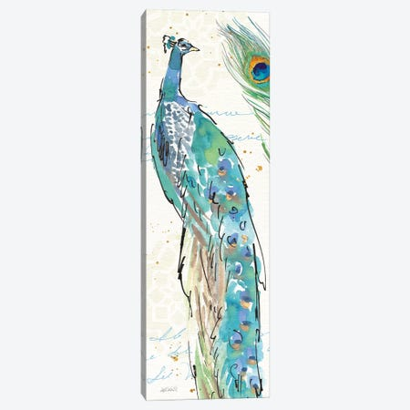 Peacock Garden IV 3-Piece Canvas #WAC6715} by Anne Tavoletti Canvas Print