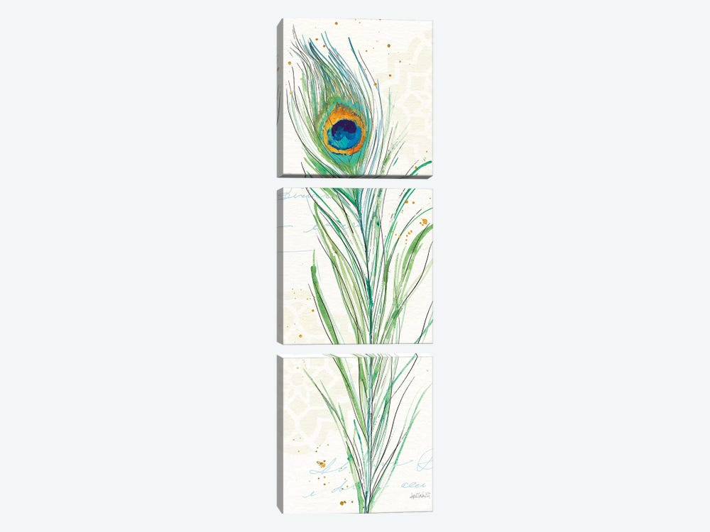 Peacock Garden VI by Anne Tavoletti 3-piece Canvas Print