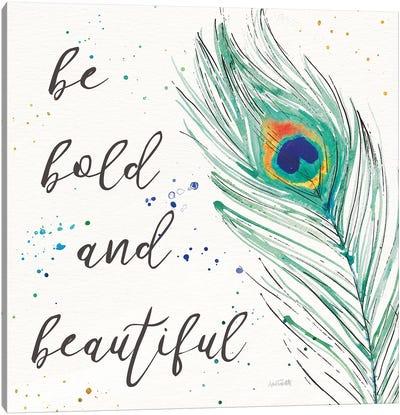 Peacock Garden VIII Canvas Art Print