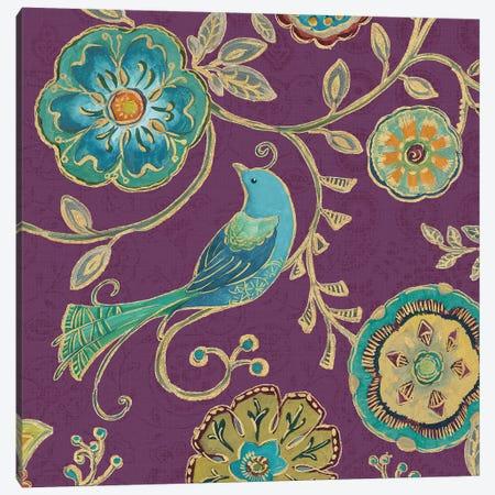 Aubergine Bohemian Wings VII Canvas Print #WAC6721} by Daphne Brissonnet Art Print