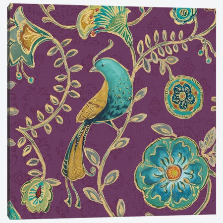 Aubergine Bohemian Wings VIII Canvas Print #WAC6722} by Daphne Brissonnet Canvas Print