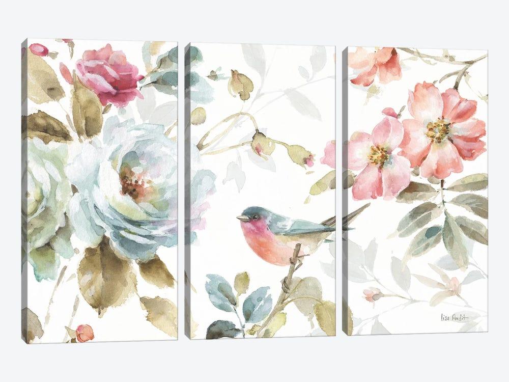 Beautiful Romance IV by Lisa Audit 3-piece Canvas Print