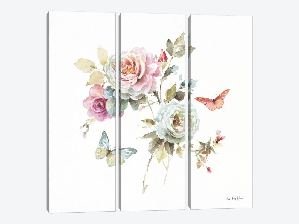 Beautiful Romance VII by Lisa Audit 3-piece Canvas Artwork