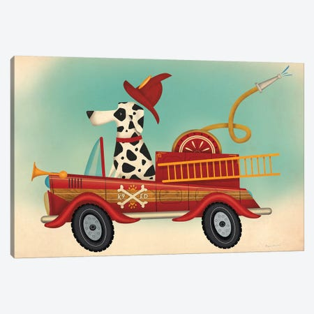 K9 Fire Department Canvas Print #WAC6749} by Ryan Fowler Art Print