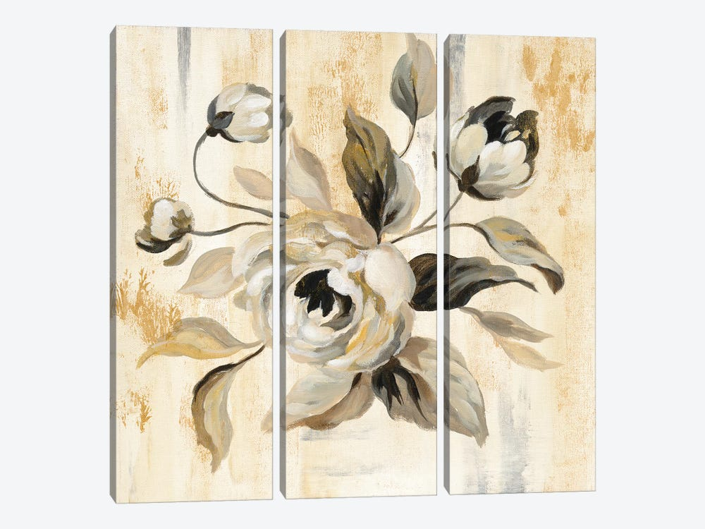 English Rose II by Silvia Vassileva 3-piece Canvas Art