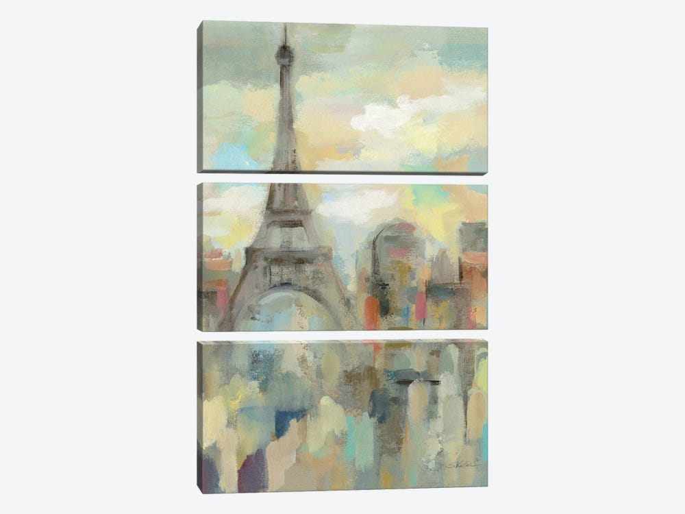 Paris Impression by Silvia Vassileva 3-piece Canvas Wall Art