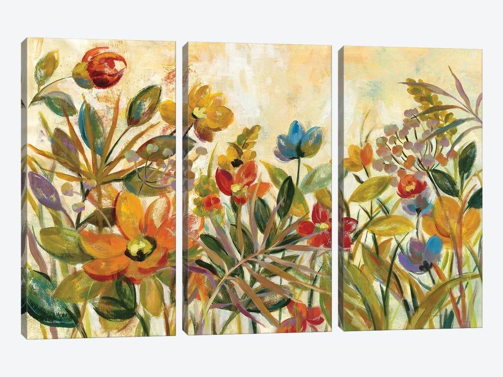 Rain Forest Floral by Silvia Vassileva 3-piece Canvas Print