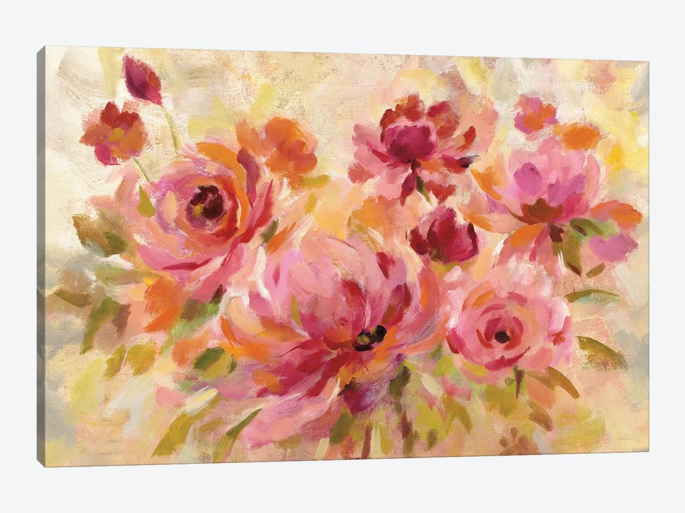 Romantic Bouquet Crop by Silvia Vassileva 1-piece Canvas Art