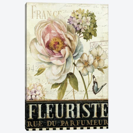 Marche de Fleurs III  Canvas Print #WAC675} by Lisa Audit Canvas Art