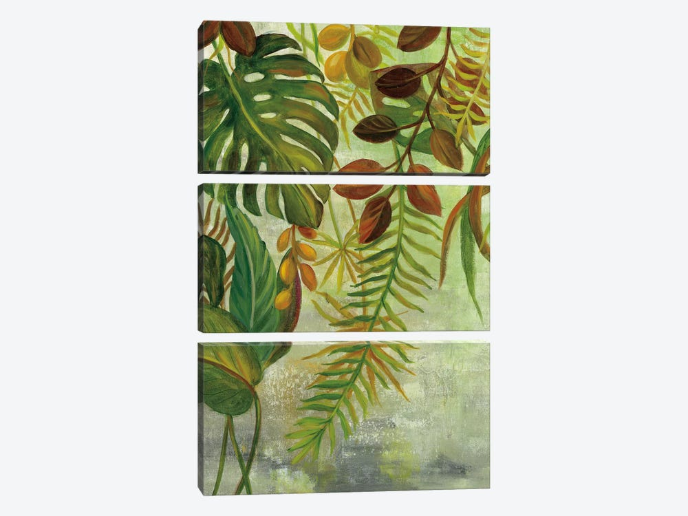 Tropical Greenery I 3-piece Canvas Print