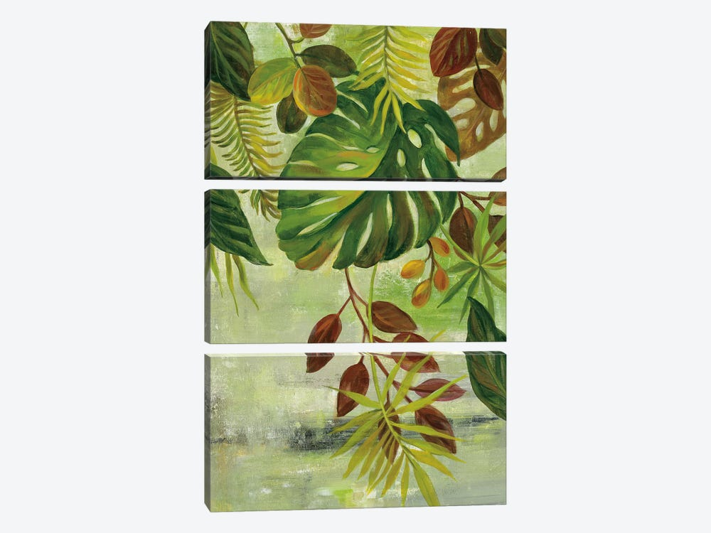 Tropical Greenery II by Silvia Vassileva 3-piece Canvas Wall Art