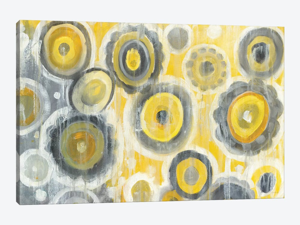 Abstract Circles 1-piece Canvas Print