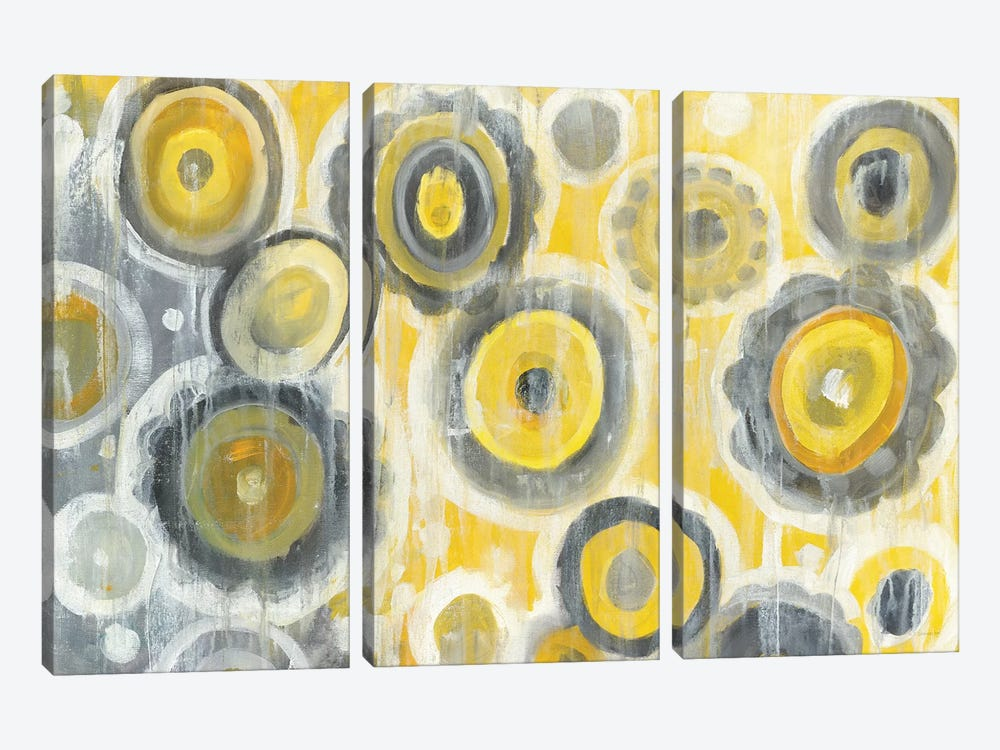Abstract Circles 3-piece Canvas Art Print