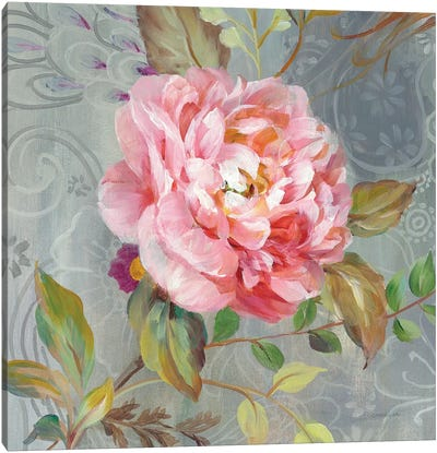 Peonies And Paisley II Canvas Art Print