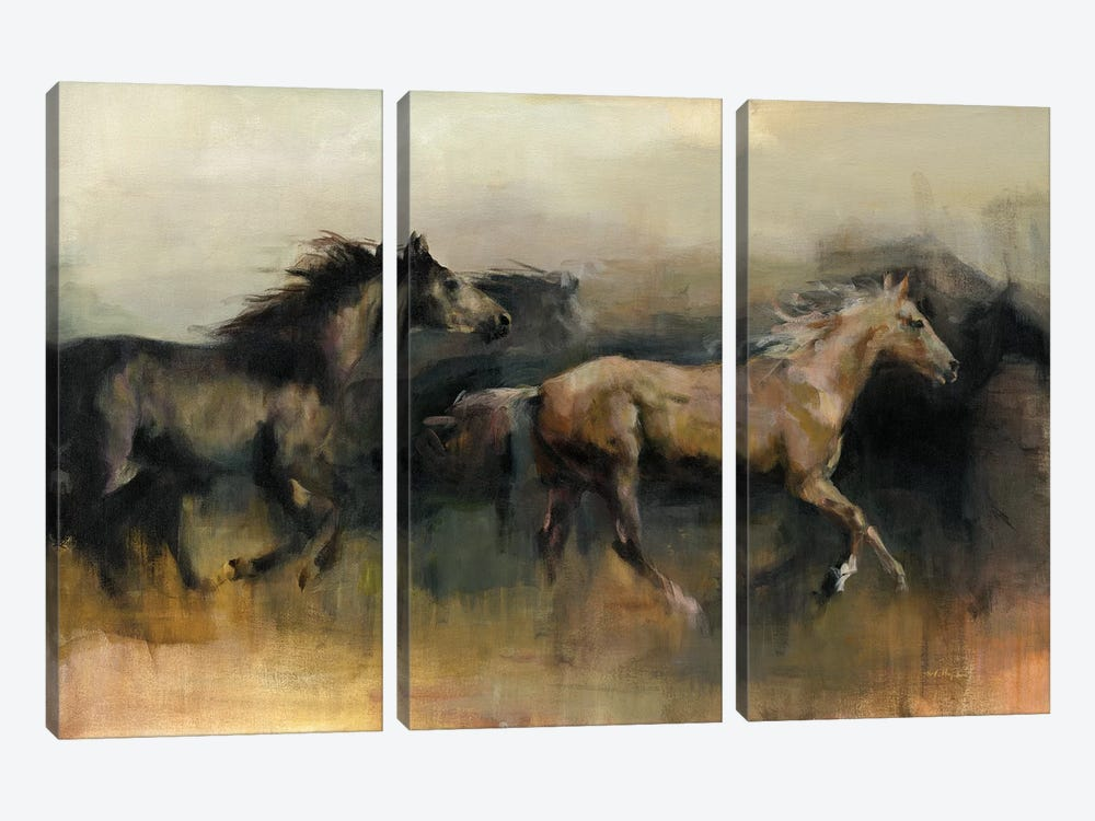 Roaming The West by Marilyn Hageman 3-piece Canvas Print