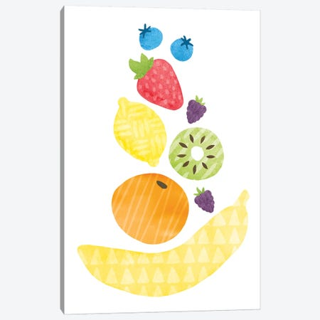 Funky Fruit I Canvas Print #WAC6779} by Moira Hershey Canvas Artwork