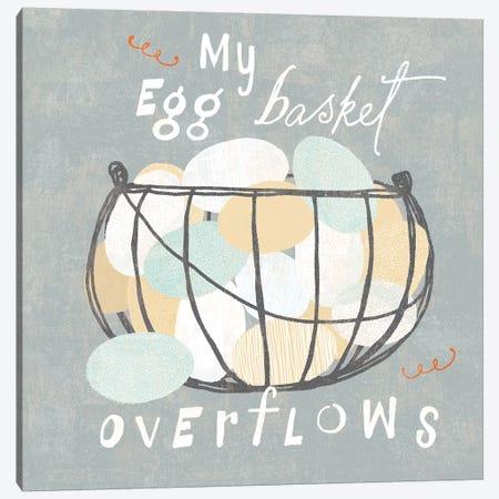Fresh Eggs III Canvas Print #WAC6818} by Sue Schlabach Canvas Art Print