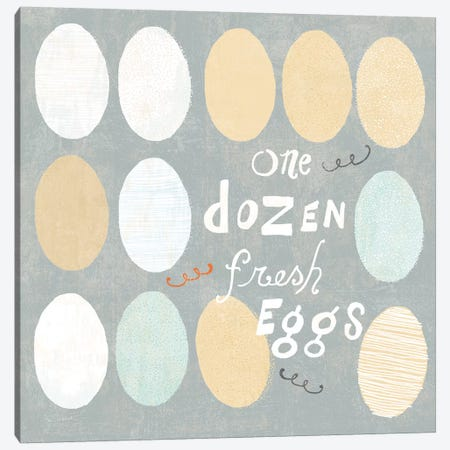 Fresh Eggs IV Canvas Print #WAC6819} by Sue Schlabach Art Print