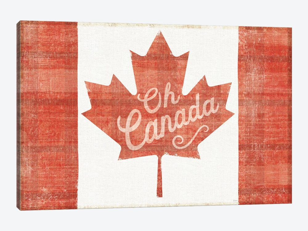 Oh Canada Flag by Sue Schlabach 1-piece Canvas Wall Art