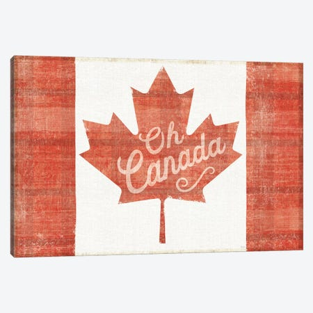 Oh Canada Flag Canvas Print #WAC6821} by Sue Schlabach Canvas Wall Art