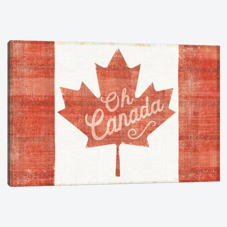 Oh Canada Flag Canvas Print #WAC6821} by Sue Schlabach Canvas Wall Art
