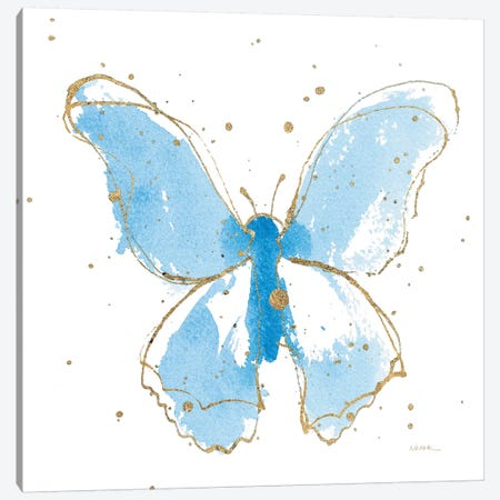 Gilded Butterflies II Canvas Print #WAC6826} by Shirley Novak Canvas Art Print