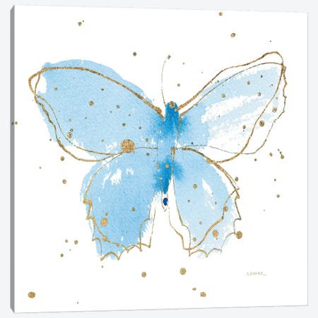 Gilded Butterflies III Canvas Print #WAC6827} by Shirley Novak Canvas Art Print
