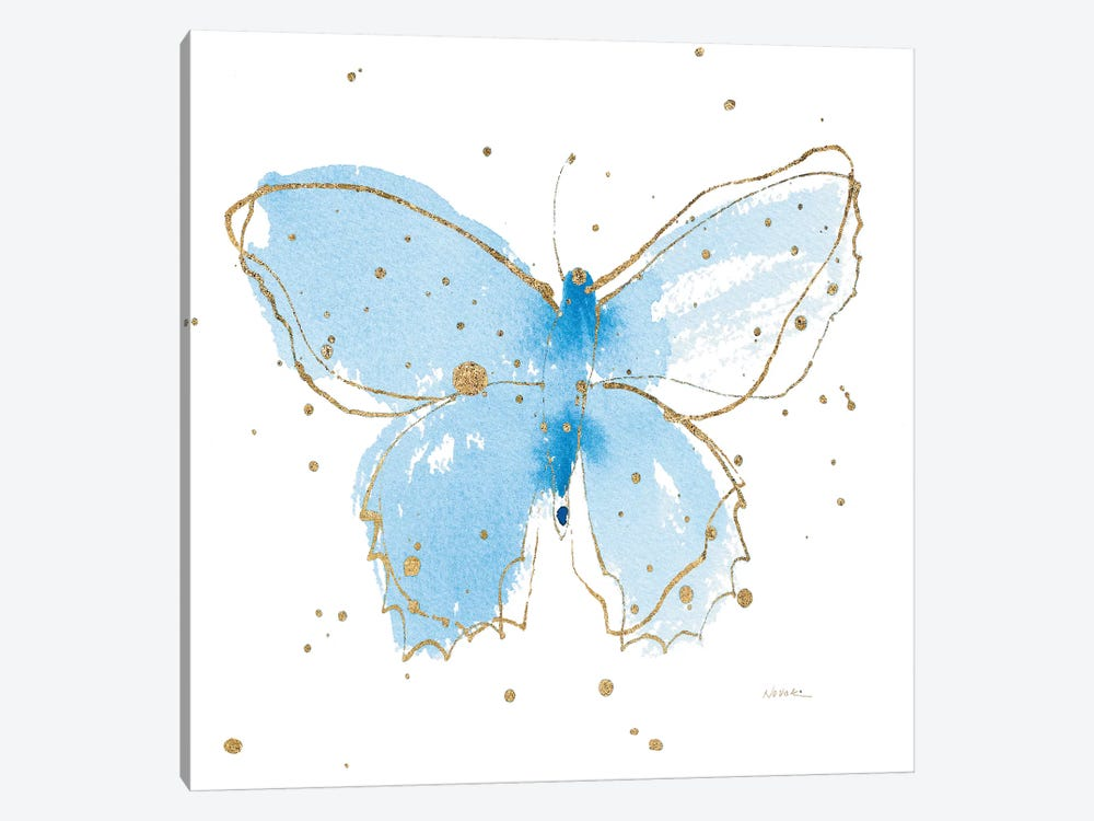 Gilded Butterflies III by Shirley Novak 1-piece Canvas Art