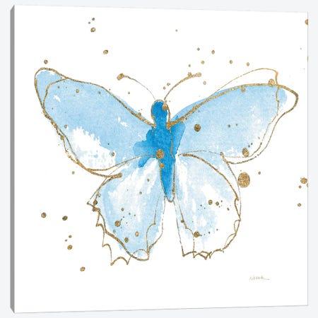Gilded Butterflies IV Canvas Print #WAC6828} by Shirley Novak Canvas Wall Art