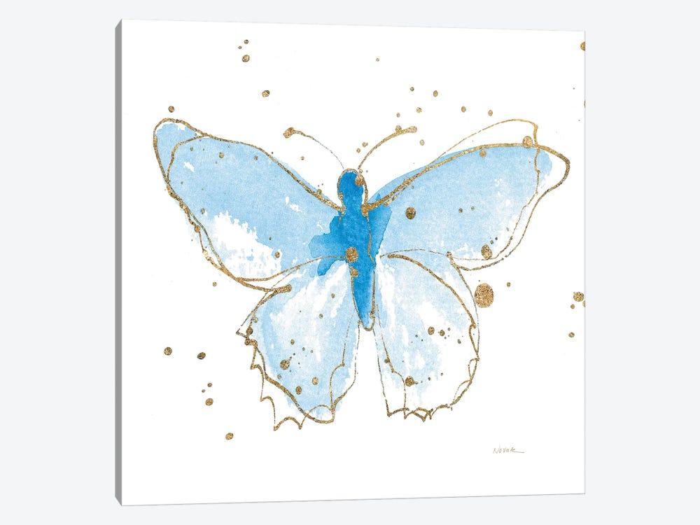 Gilded Butterflies IV by Shirley Novak 1-piece Canvas Art Print