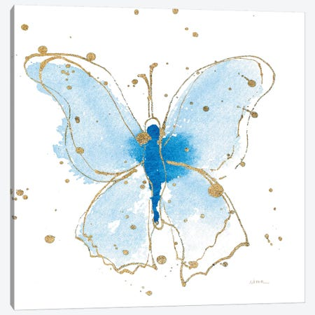 Gilded Butterflies V Canvas Print #WAC6829} by Shirley Novak Canvas Wall Art