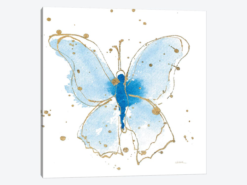 Gilded Butterflies V by Shirley Novak 1-piece Canvas Wall Art