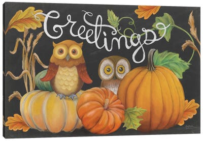 Harvest Owl I Canvas Art Print