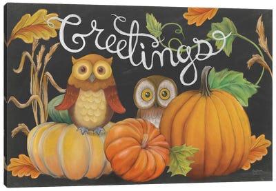 Harvest Owl I Canvas Art Print
