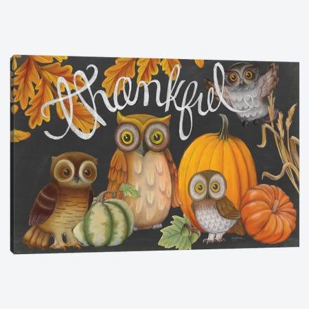 Harvest Owl III Canvas Print #WAC6834} by Mary Urban Canvas Wall Art