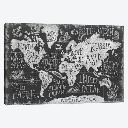 Mythical Map I Canvas Print #WAC6836} by Mary Urban Canvas Artwork