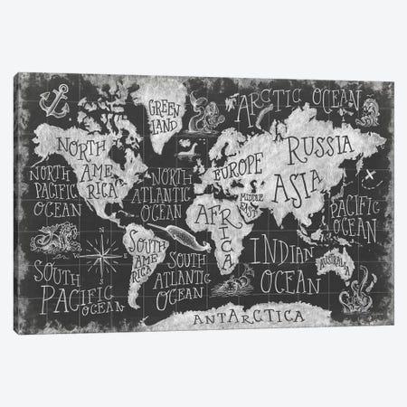 Mythical Map I Canvas Print #WAC6836} by Mary Urban Canvas Artwork
