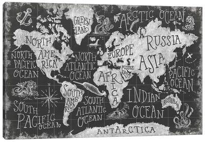 Mythical Map I Canvas Art Print